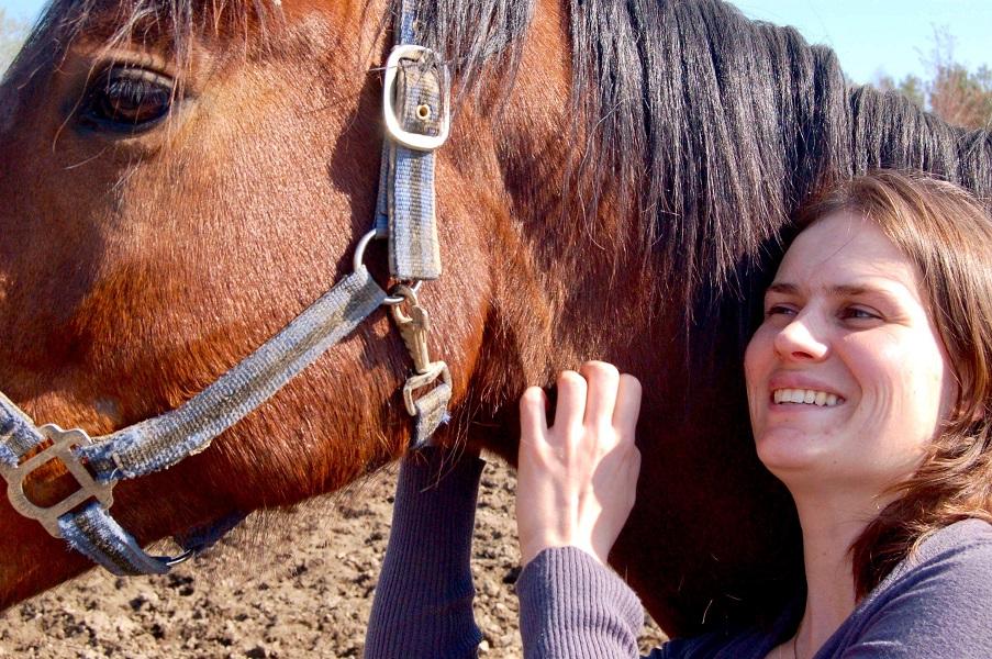 Odrey Ayotte-Lavoie avec un cheval